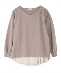 Back schoen with lace pullover(Mocha-Free)