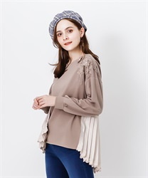 Back schoen with lace pullover