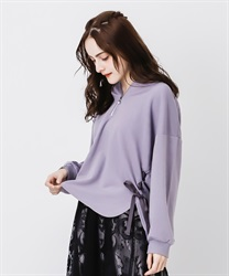 Lace up hoodie pullover(Lavender-Free)
