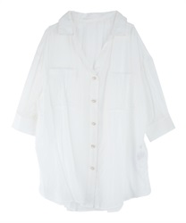 Sheer Tunic(White-Free)