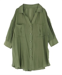 Sheer Tunic(Green-Free)