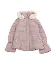 Down coat with hood(Pale pink-Free)