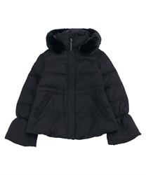 Down coat with hood(Black-Free)