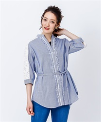 Tunic with yoke lace