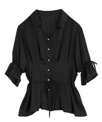 【2Buy20%OFF】2 Ways Blouse(Black-Free)