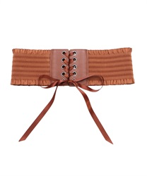 Lace-up rubber belt(Camel-M)