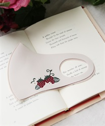 Strawberry printed mask(Beige-M)