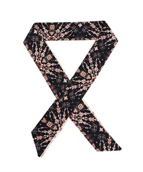 Assorted Pattern narrow scarf(Black-M)