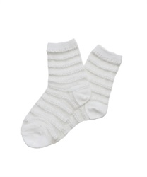 Lace Striped Socks(White-M)