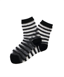 Lace Striped Socks(Black-M)