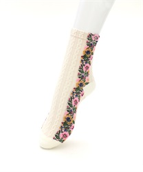 Botanical Pattern Socks