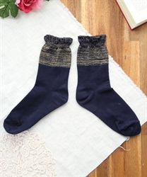 Flare socks(Navy-M)