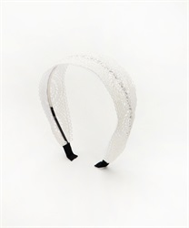 Wide Lace Headband(Ecru-M)