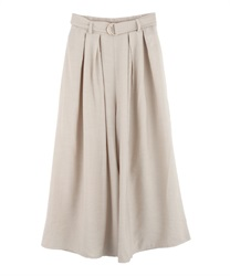 Tuck Wide Pants with Belt(Ecru-Free)
