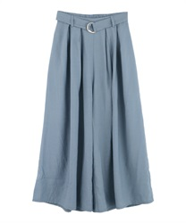 Tuck Wide Pants with Belt(Blue-Free)