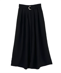 Tuck Wide Pants with Belt(Black-Free)
