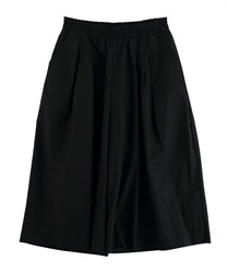 Tuck Wide Pants with Pockets [online only](Black-Free)
