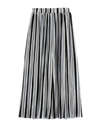 Striped Pleated Wide PT(Black-Free)