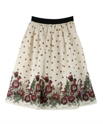 Floral Organdy skirt(Red-Free)