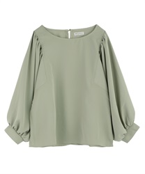 Gather sleeve switching pullover(Green-Free)