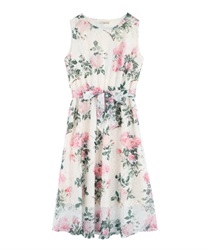 Floral print lace dress(Ecru-Free)