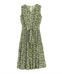 Feathered Chiffon Dress(Khaki-Free)