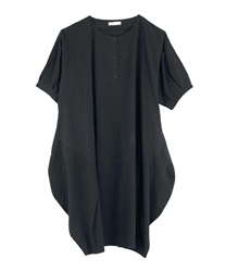 Deformed Tuck Design Big Dress(Black-Free)