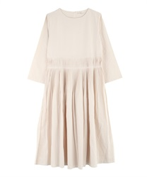 Rough Pleated Dress(Ecru-Free)