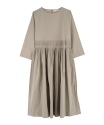 Rough Pleated Dress(Beige-Free)