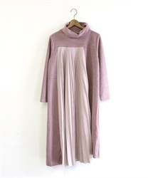 Total ashime pleated dress(Pale pink-Free)