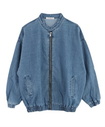 Blouson with stand collar pocket[Only at Online Shop](Blue-Free)