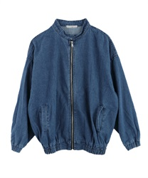 Blouson with stand collar pocket[Only at Online Shop](Navy-Free)