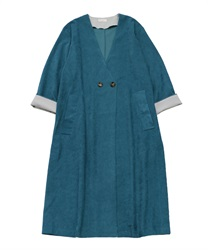 Long coat without collar(Blue-Free)
