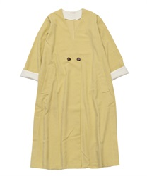 Long coat without collar(Yellow-Free)