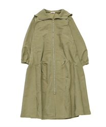 Hooded zip-up coat(Khaki-Free)