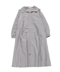 Hooded zip-up coat(Grey-Free)
