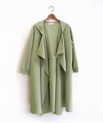 Shirring hood coat(Green-Free)