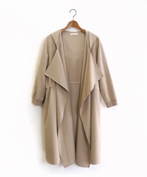 Shirring hood coat(Beige-Free)