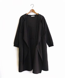 Shirring hood coat(Black-Free)