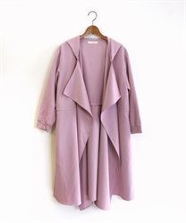 Shirring hood coat(Lavender-Free)