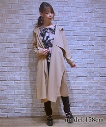 Shirring hood coat