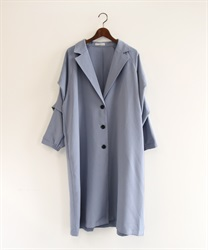 Tuck sleeve tailor coat(Blue-Free)