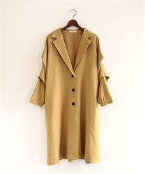 Tuck sleeve tailor coat(Yellow-Free)