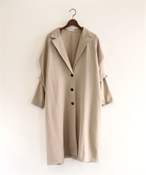 Tuck sleeve tailor coat(Beige-Free)