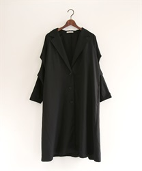 Tuck sleeve tailor coat(Black-Free)