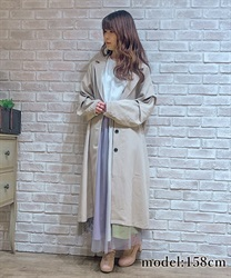 Tuck sleeve tailor coat