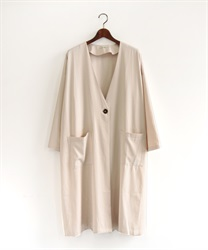 Back pleated coat(Ecru-Free)