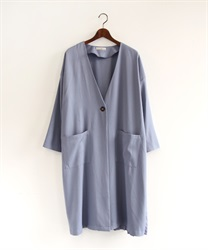 Back pleated coat(Blue-Free)