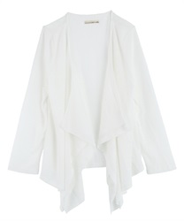 Slub Cut Draped Cardigan(Ecru-Free)