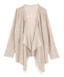 Slub Cut Draped Cardigan(Beige-Free)